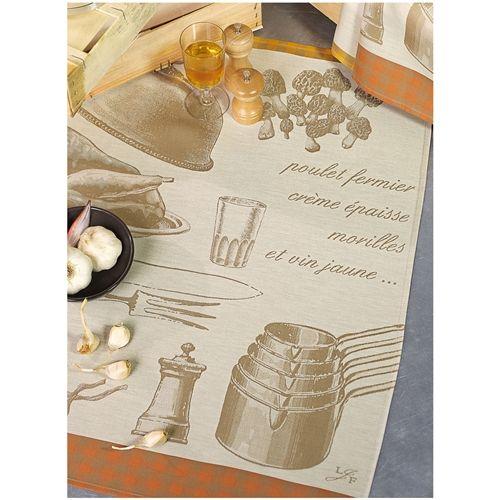 Le Jacquard Francais Poulet Aux Morilles Pepper Kitchen Towels