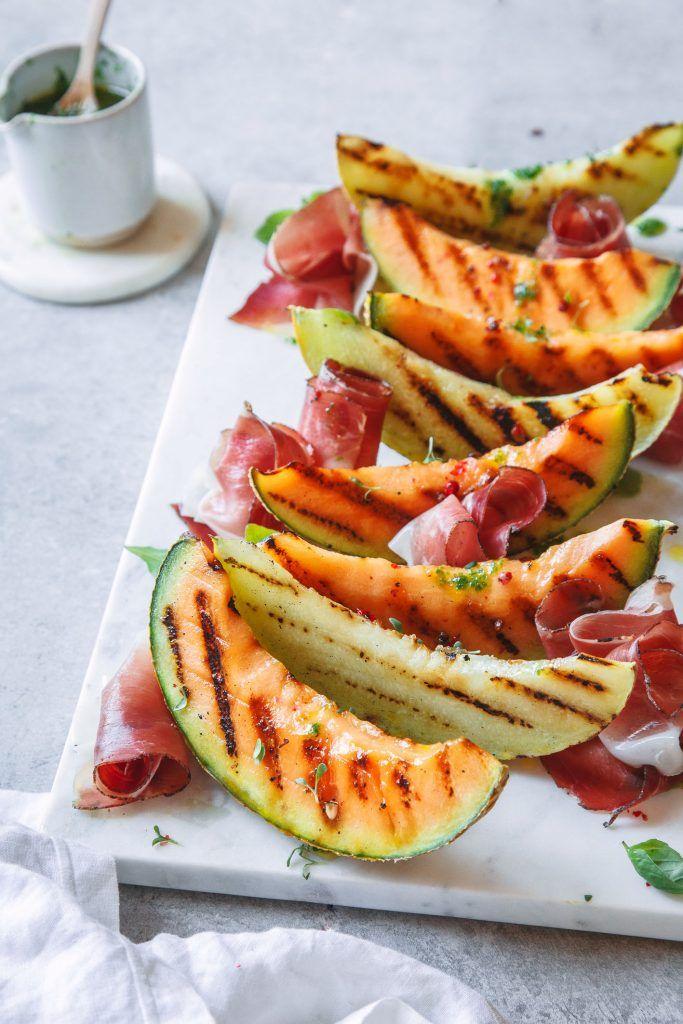 Gegrillte Melonen mit Südtiroler Speck