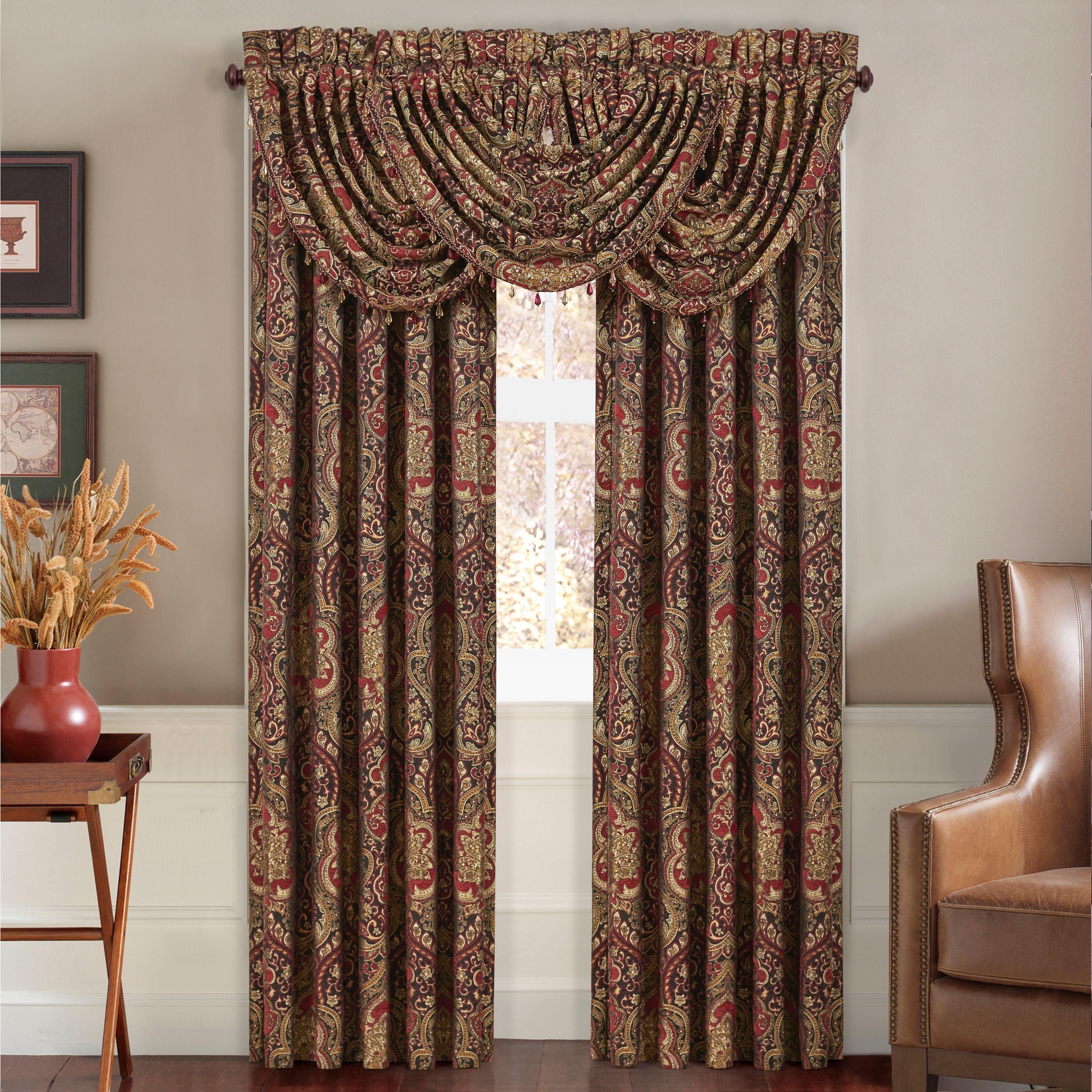 Luxury window coverings  five queens court remington woven chenille luxury window panel pair