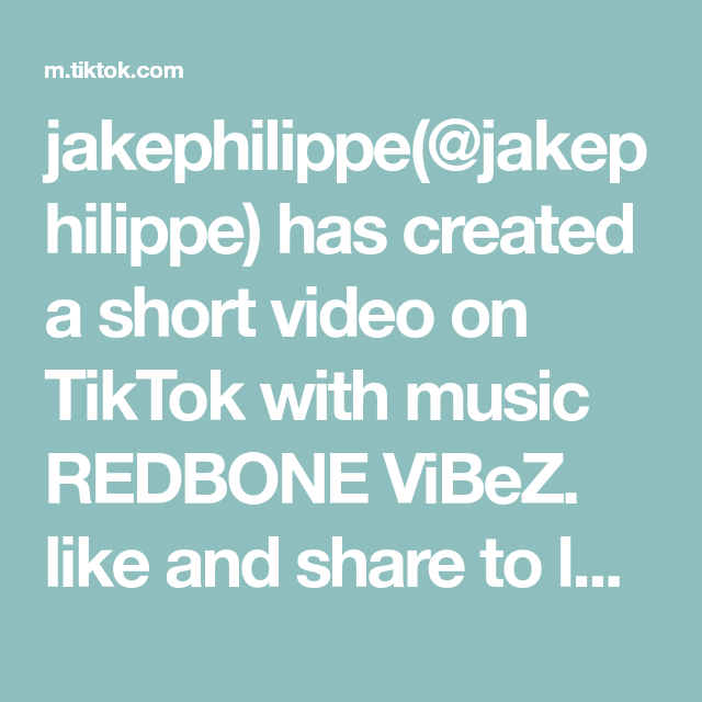 Jakephilippe Jakephilippe Has Created A Short Video On Tiktok With Music Redbone Vibez Like And Share To Lock In Music Gifts For Friends Video