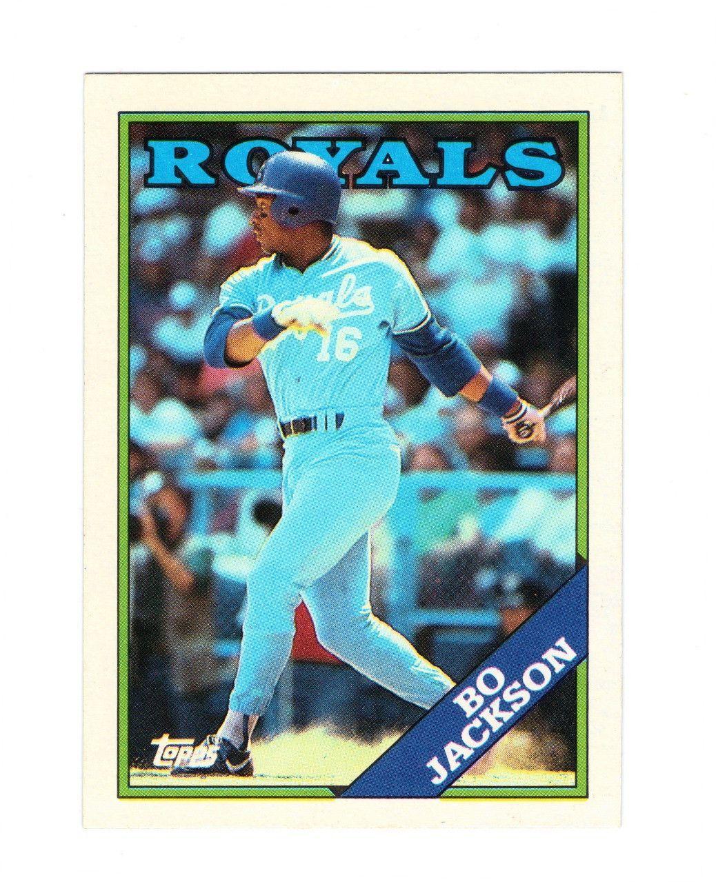 1988 topps bo jackson 750 2nd year card royals grade 9