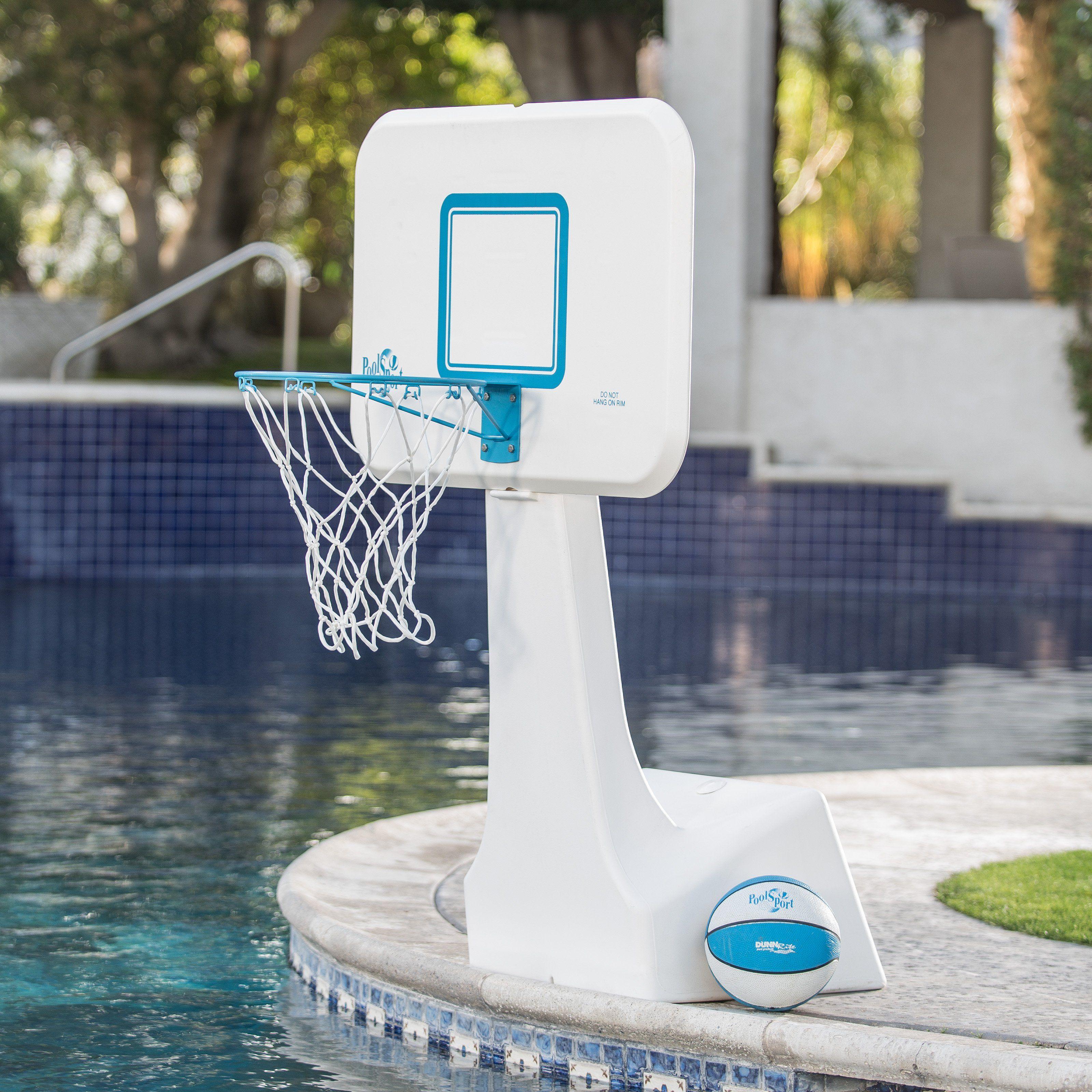 Dunn Rite Poolsport Portable Pool Basketball Hoop The Dunn Rite Poolsport Portable Pool Basketball Ho Portable Pools Pool Basketball Portable Basketball Hoop