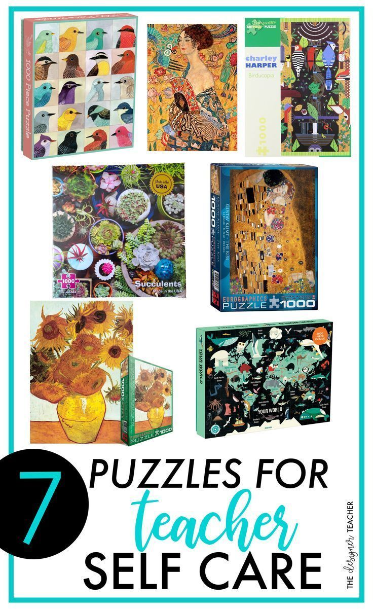 7 Puzzles for Teacher Self Care  The Designer Teacher Are you a teacher looking for a way to relax and practice self care Learn why I love completing jigsaw puzzles as a...