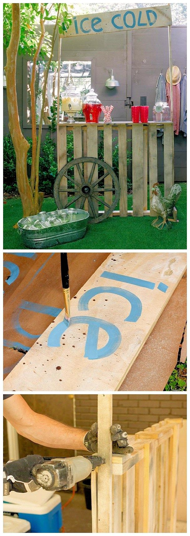 Diy pallet projects the best reclaimed wood upcycle ideas do it yourself pallet projects diy lemonade stand made from upcycled shipping pallets woodworking upcycle tutorial via diy network solutioingenieria Images