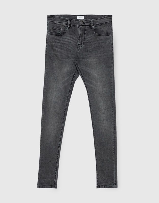 Jeans Super Skinny Fit Gris Super Skinny Fit Jeans Ropa Hombre Pull Bear Mexico Skinny Fit Skinny Fit Jeans Jeans Fit