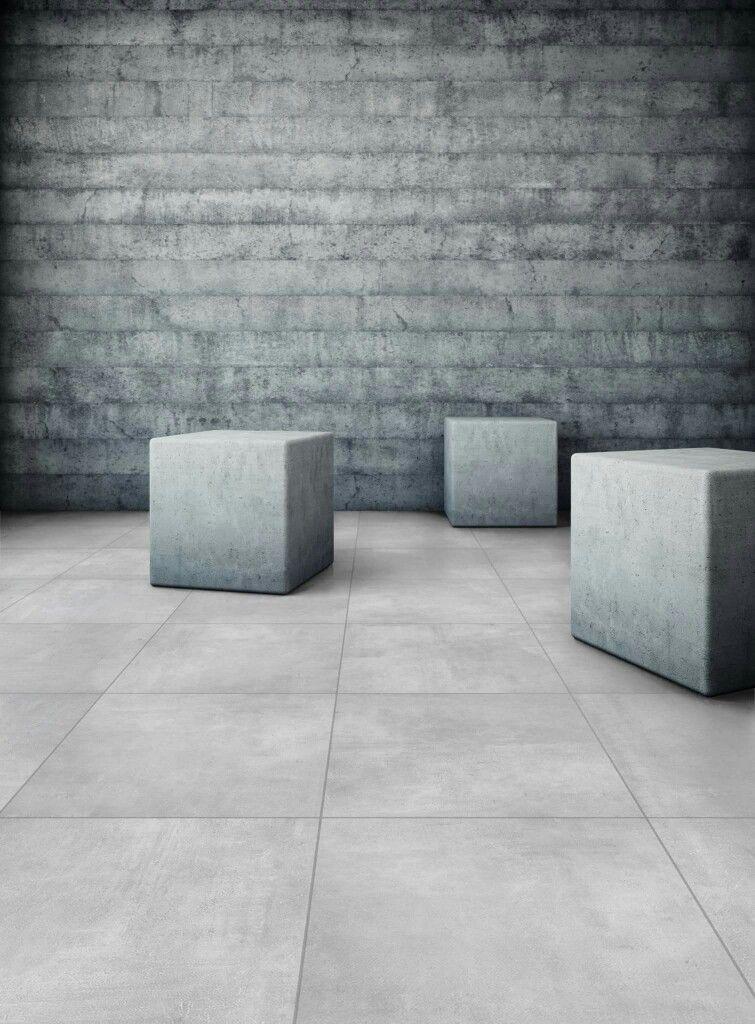 Grijze Grote Tuintegels.Betonlook Tegels In Een Hip Interieur Betontegels Betonlook Tegels