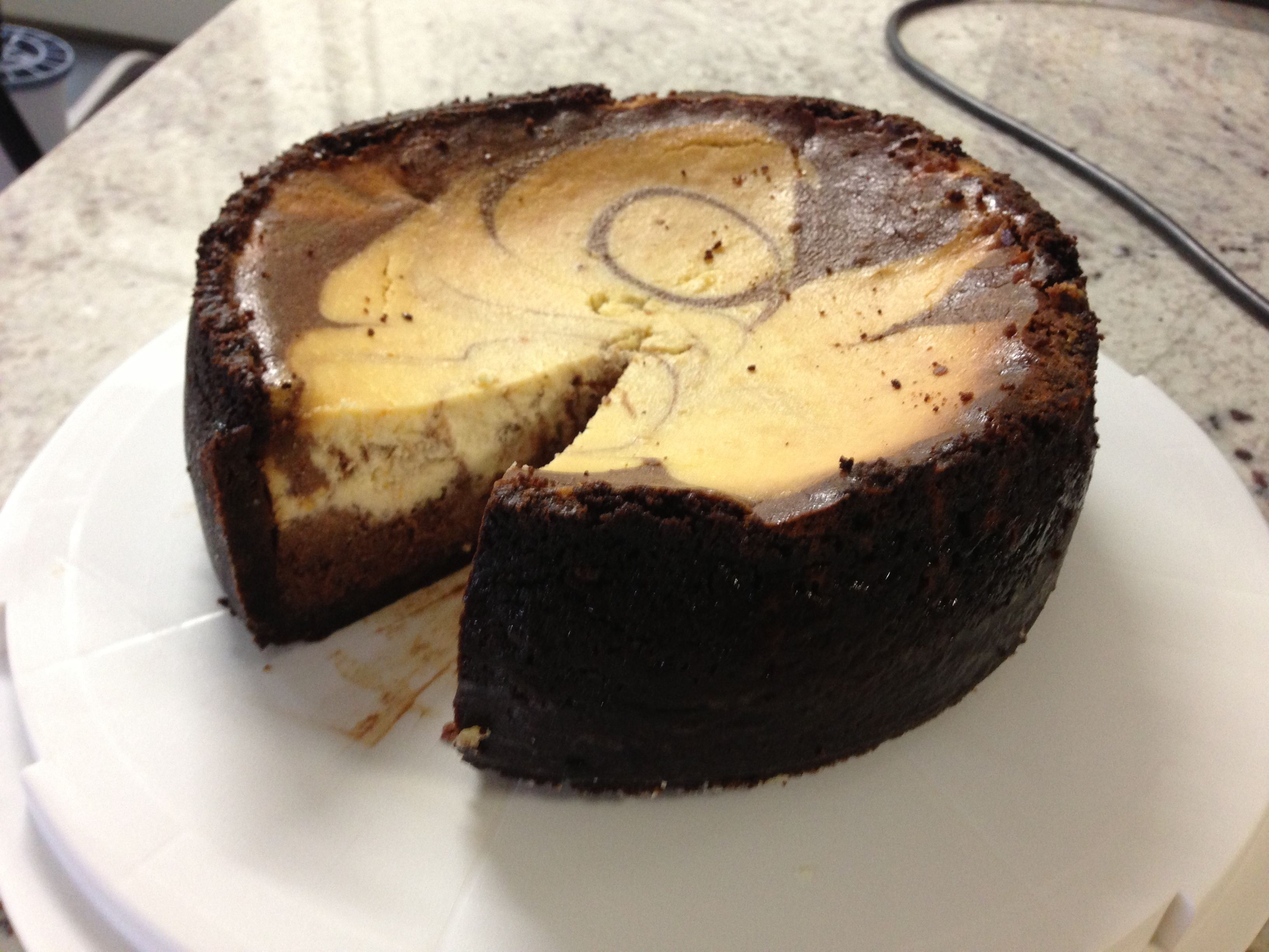 Rustic choc orange baked cheesecake