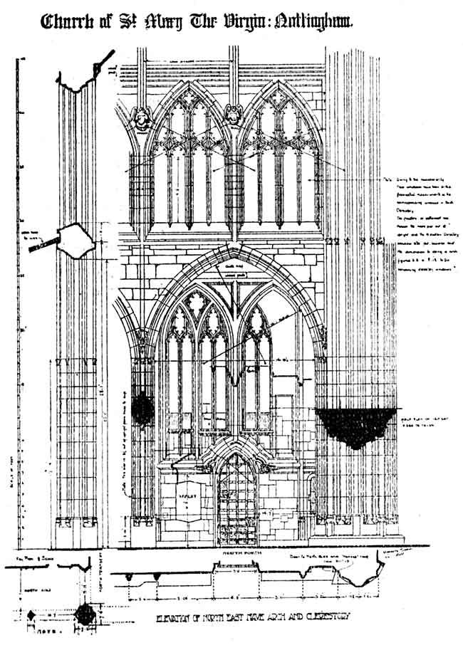 Architectural Plans, Elevation of north east nave arch and ... - architectural plans