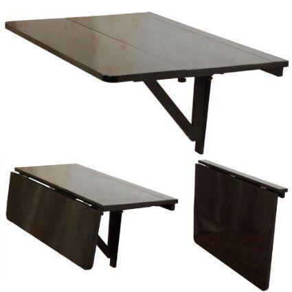 Tavolo da muro pieghevole in legno 80×60cm,con due supporti, colore ...