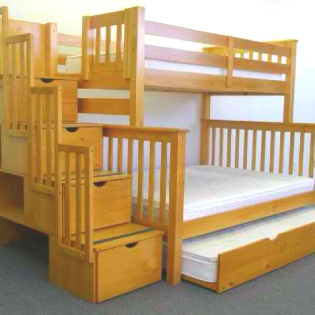 Bad Bunk Beds With A Guest Bed If I Have Kids Close In Age Need This