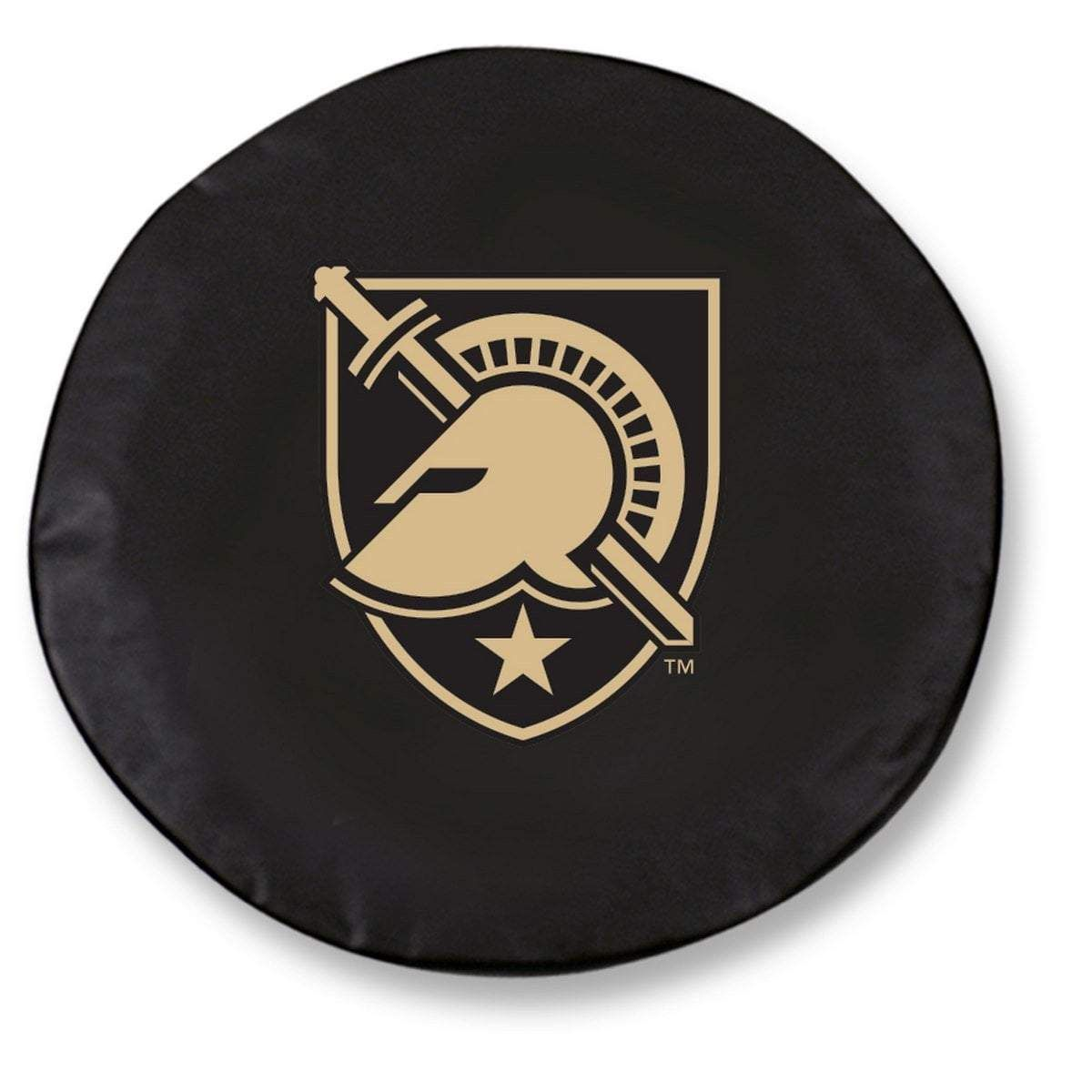 Army Black Knights Hbs Black Vinyl Fitted Spare Car Tire