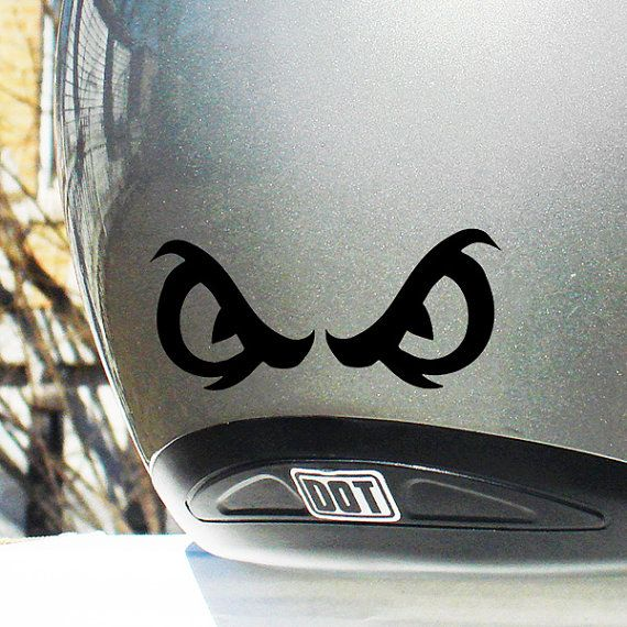Angry Eyes Reflective Decal Angry Eyes Helmet Sticker Angry - Vinyl stickers for motorcycle helmetsdragon hyper reflective decal motorcycle helmet safety sticker