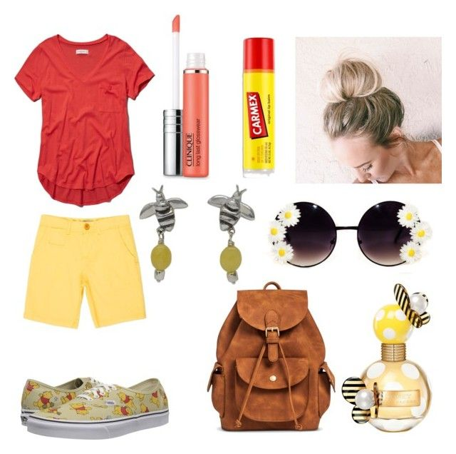 """""""Disney for days: pooh bear"""" by alicelilianrose on Polyvore featuring Abercrombie & Fitch, Paul Smith, Clinique, Marc Jacobs, Mossimo Supply Co., NOVICA, Carmex, Vans, women's clothing and women"""