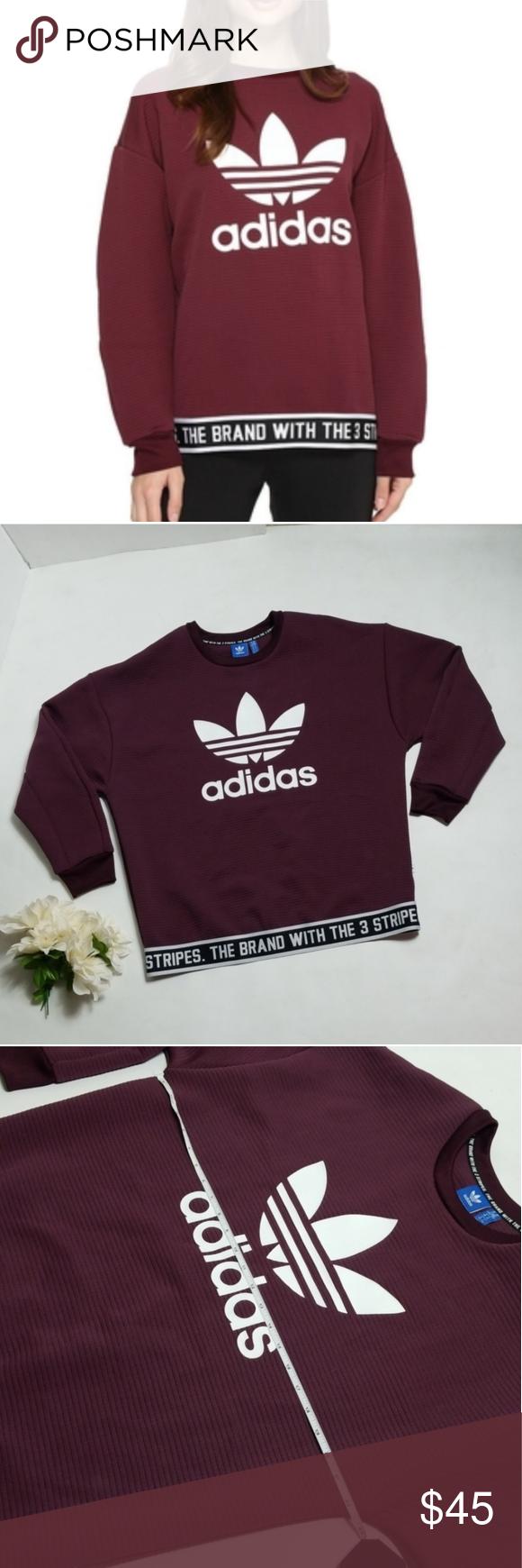 Adidas originals M maroon burgundy trefoil logo ADIDAS Size