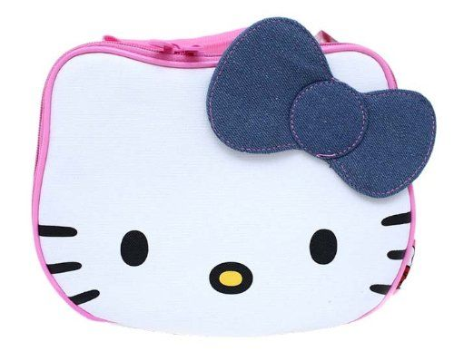 9 50 Hello Kitty Face Lunch Bag Box With Jean Bow From Hello Kitty Get It Here Http Astore Amazon Com Ffiilliipp 20 D Hello Kitty Hello Kitty Toys Kitty