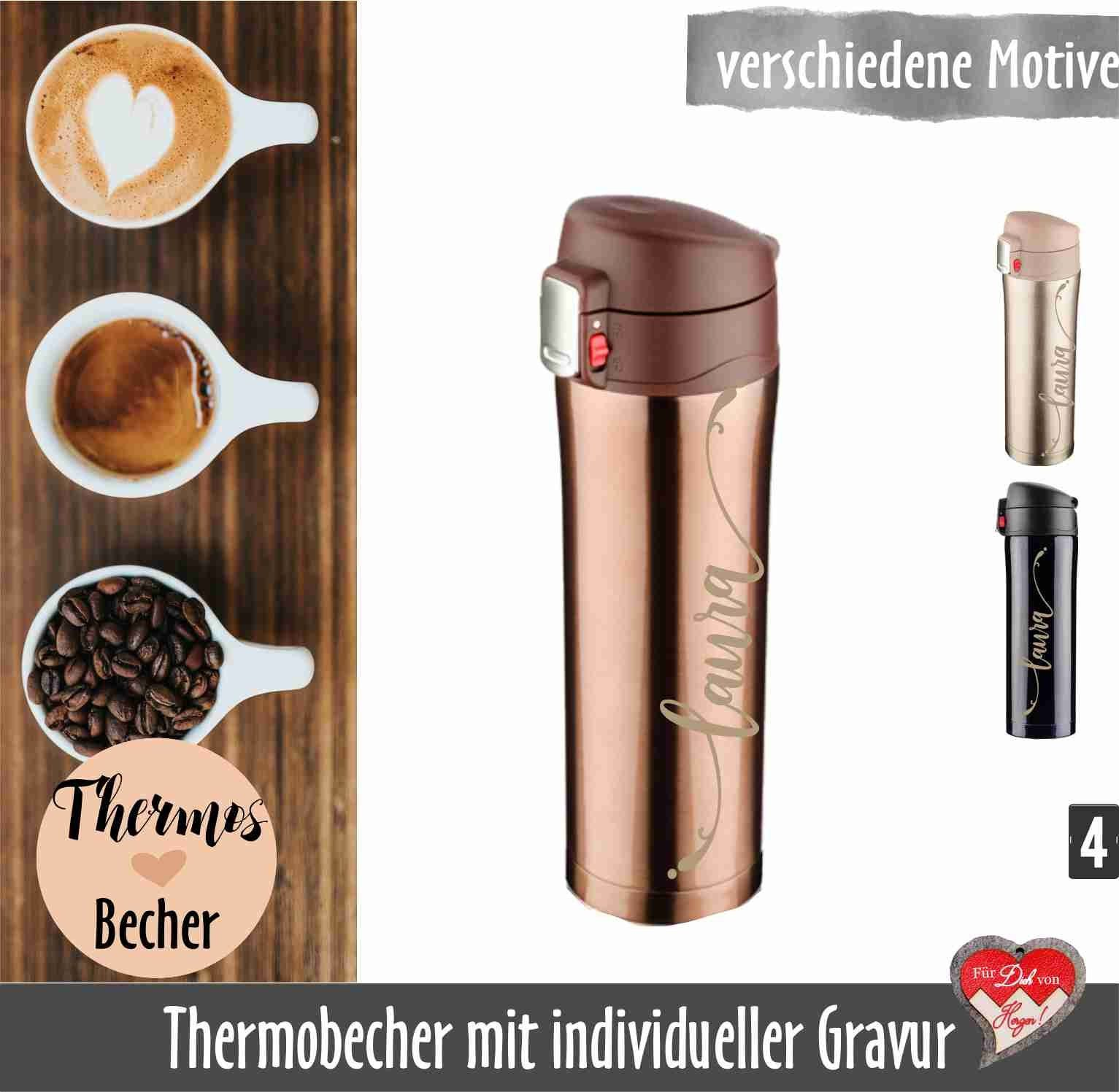 Bambus Becher Mit Namen Thermal Cup With Engraving Insulating Cup With Name Coffee To Go