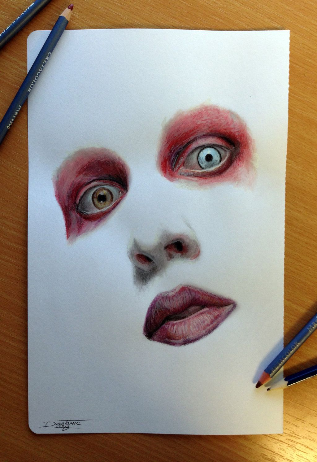color pencil drawing of by atomiccircusdeviantartcom on deviantart - Color Drawings