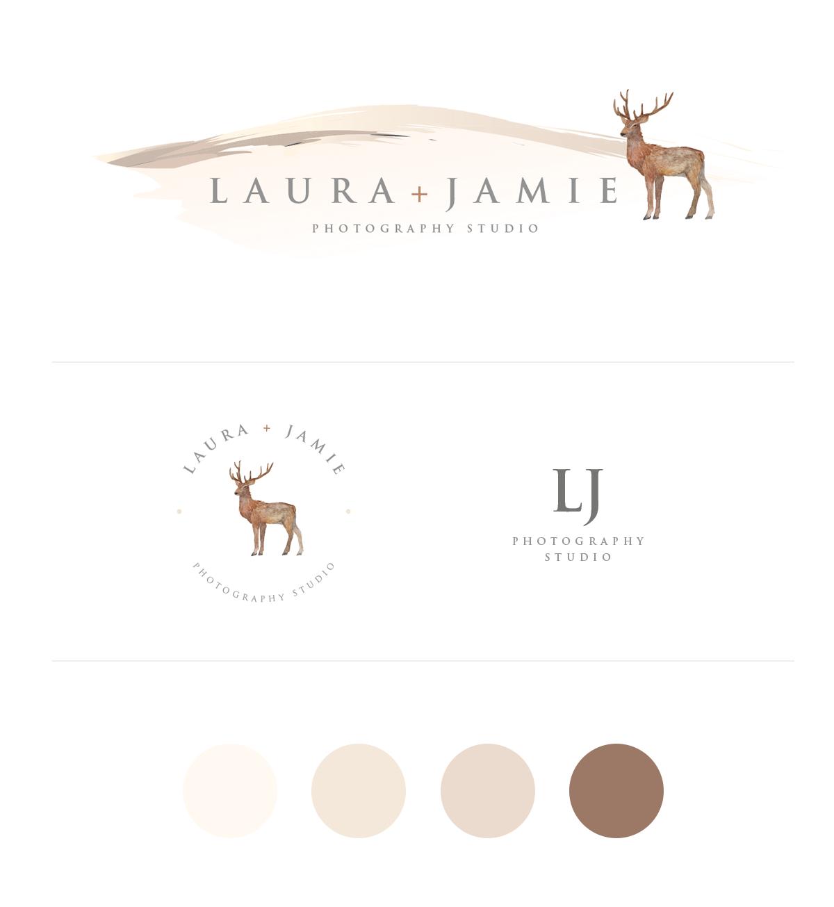 INSTANT DOWNLOAD Photography Studio, Boutique Logo, Deer