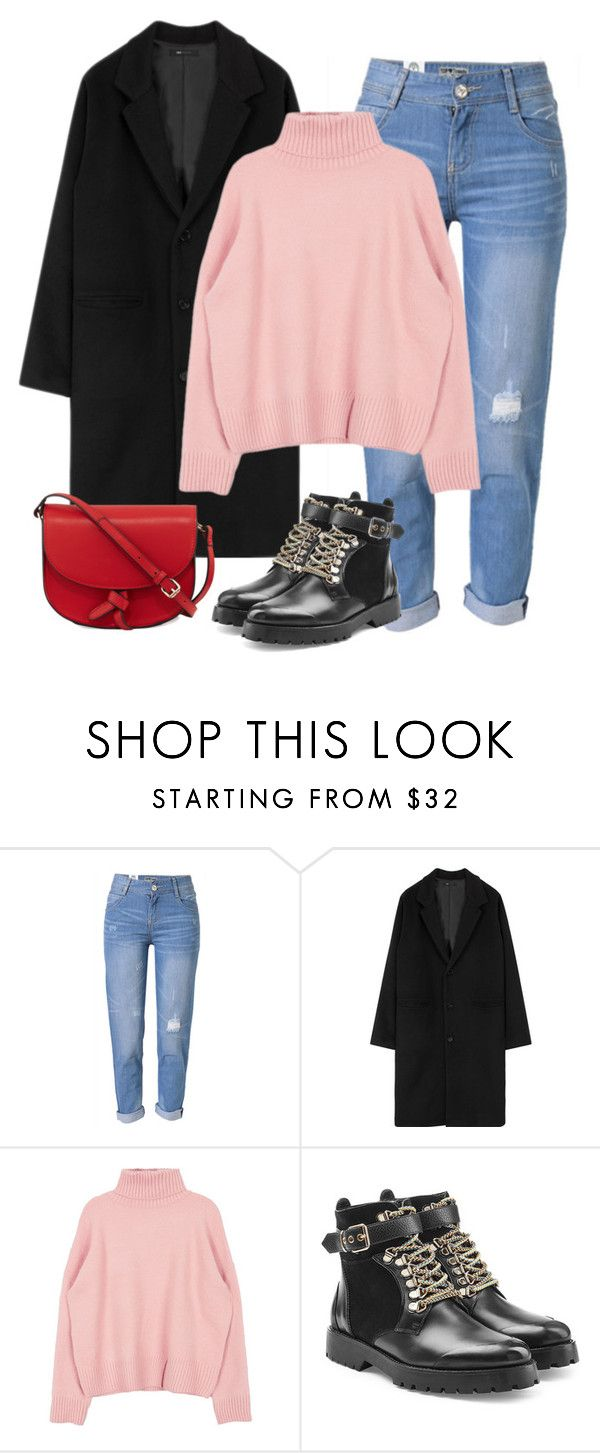 U0026quot;Winter outfit // Black Pink - Roseu0026quot; by berrie95 on Polyvore featuring WithChic Burberry KC ...