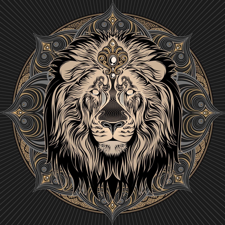 Image of Iron Lion Mandala Lion mandala, Lion art