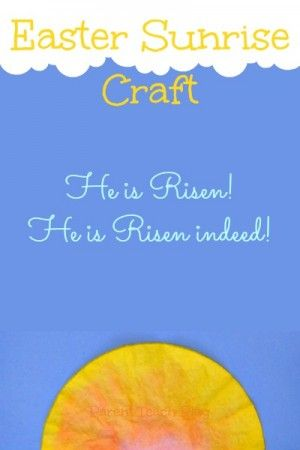 An Easy Easter Sunrise Craft For Kids Made From Coffee Filters