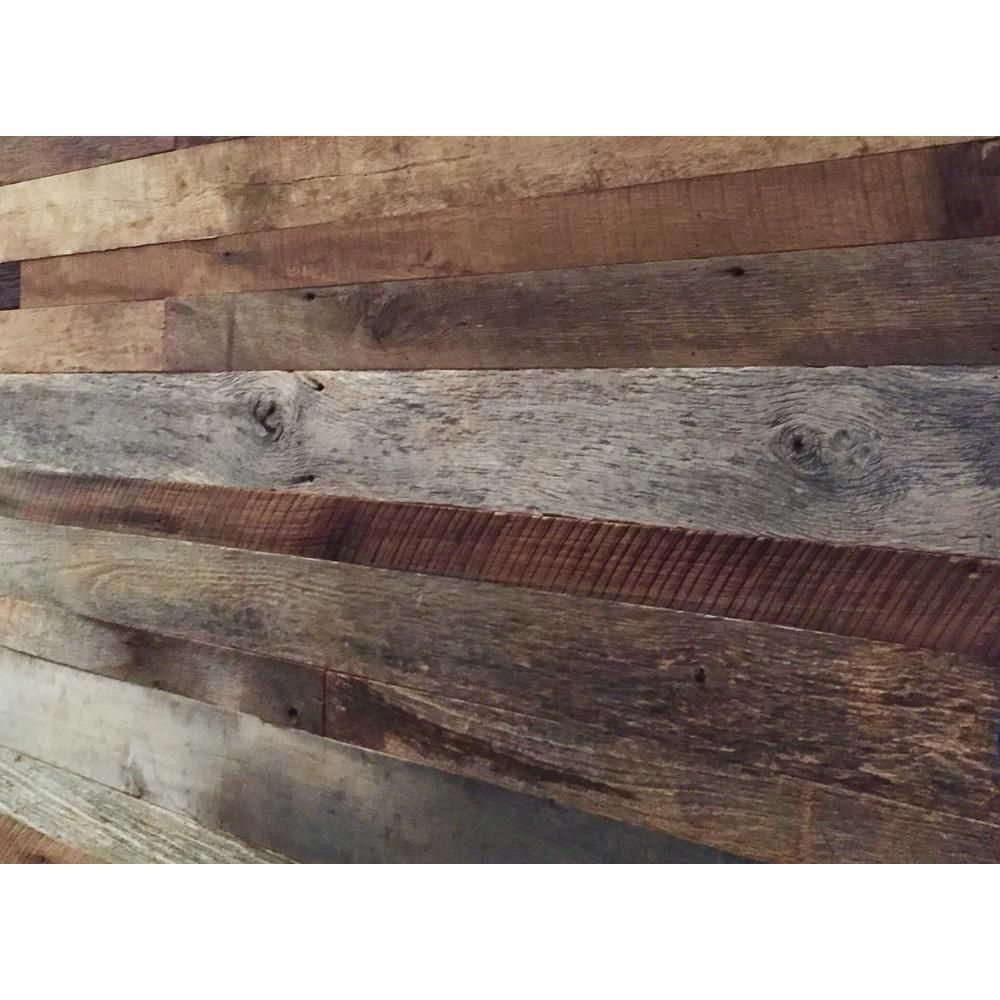 Barn Door Accent Wall Wood Planks: Vintage Timber 3/8 In. X 4 Ft. Random Width 3 In.