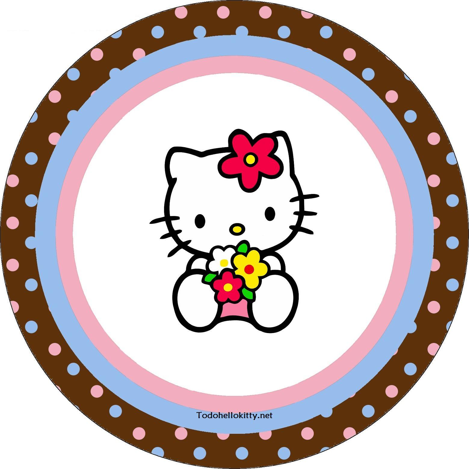 Etiquetas circulares de Hello Kitty  Hello kitty  Pinterest