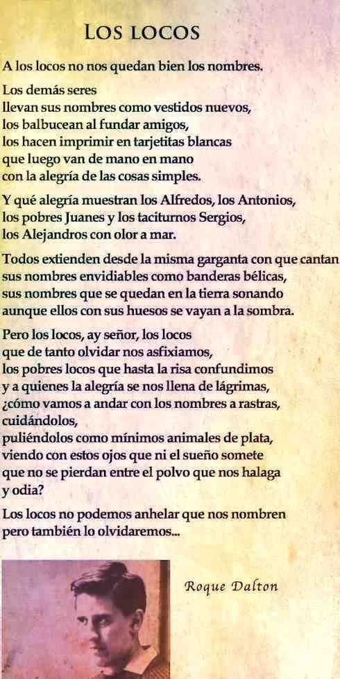 Los Locos Poema De Roque Dalton Poemas Poesía Y Letras