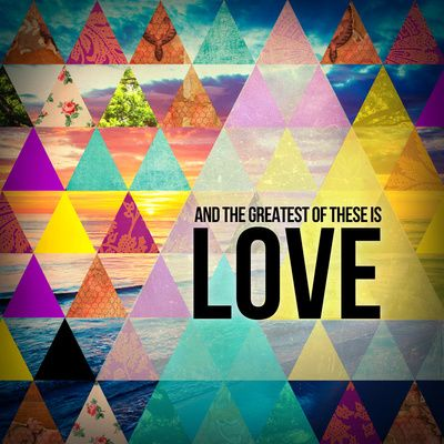 """1 Corinthians 13:14 """"And the greatest of these is Love"""" Art Print by Pocket Fuel 