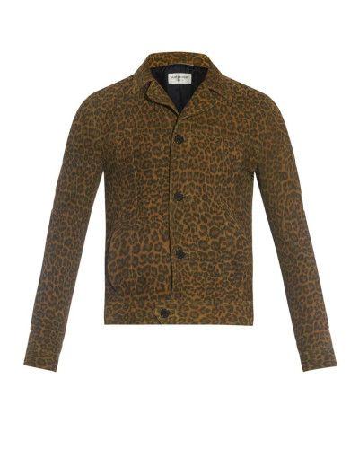 236e4f14 Men's Brown Leopard-print Suede Jacket | unusual yet so very ...