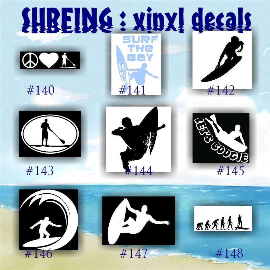 SURFING Vinyl Decals  Surfer Stickers Surfer Girl - Custom vinyl stickers for cars