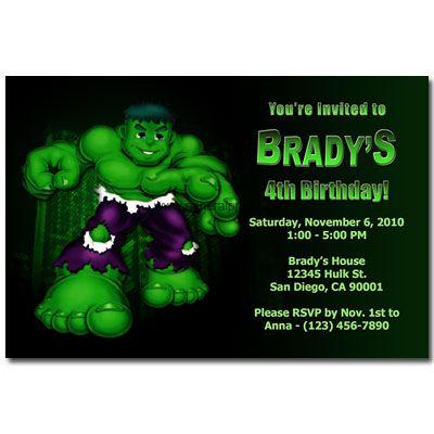 The Incredible Hulk Invitations General Prints Hulk Birthday Hulk Birthday Parties Incredible Hulk Party