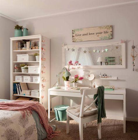 Un dormitorio joven. | casa | Bedroom decor, Home decor ...