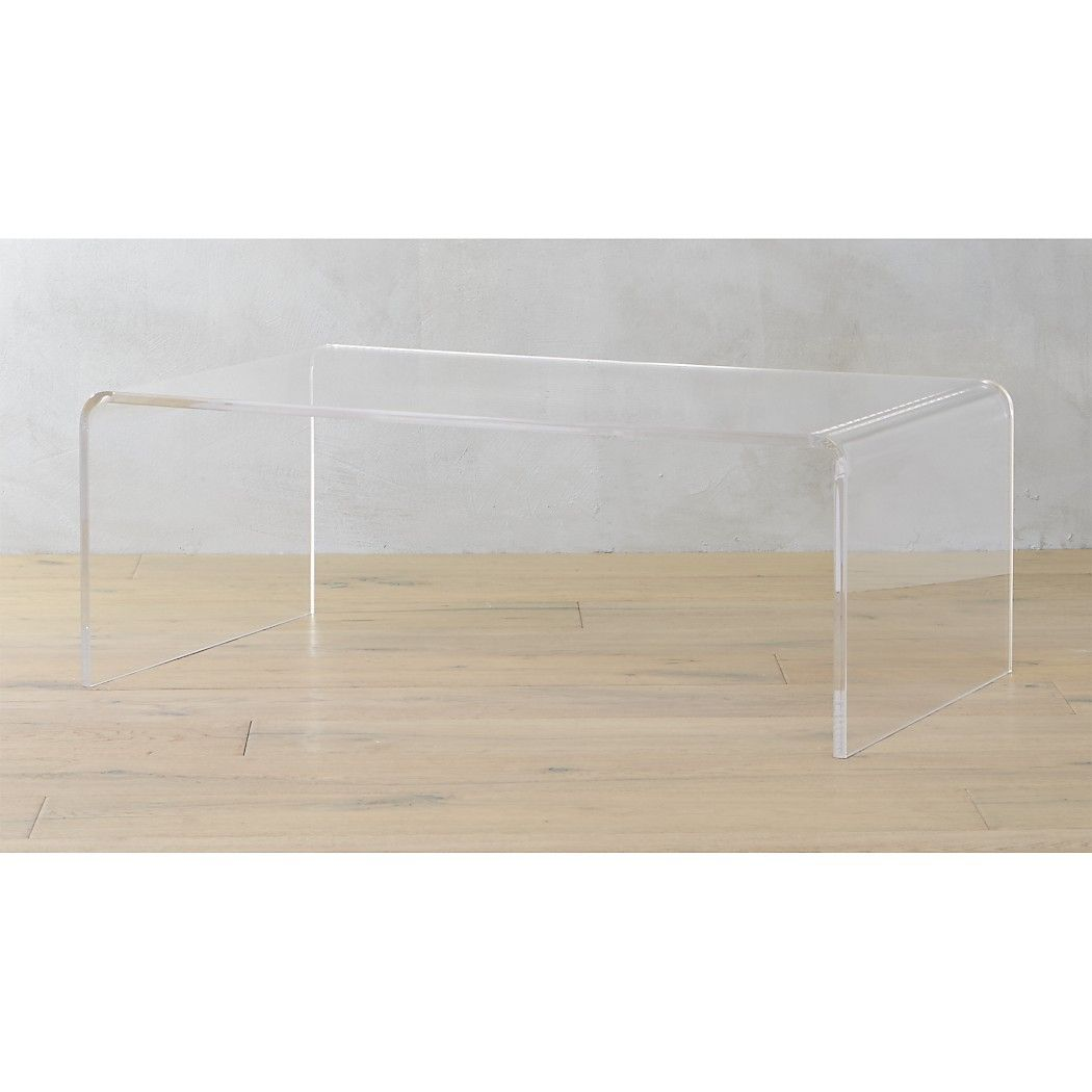 Z Gallerie Duplicity Coffee Table: Peekaboo Acrylic Coffee Table