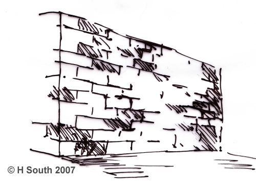 8 Steps To Drawing A Brick Wall In Perspective In 2019 How To Draw