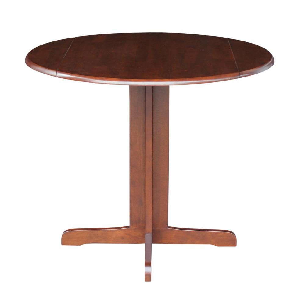 International Concepts Espresso Solid Wood Dining Table T581 36rp Drop Leaf Table Solid Wood Dining Table Dining Table