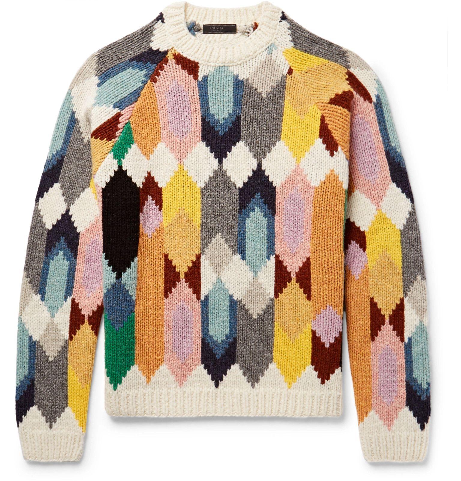 PRADA Shetland Wool Sweater | Men\'s Fall-Winter 2017-2018 | Pinterest