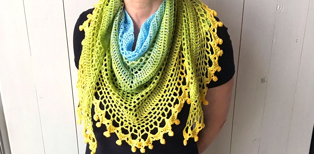 Wilmade: Pom Pom Happiness Shawl - free crochet pattern and videos ...