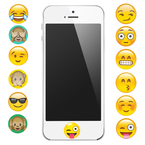 Stick This Button On Your Iphone So You Can See Your Favorite Emoji Without Even Turning On Your Screen Emoji Diy Iphone Emoji Craft