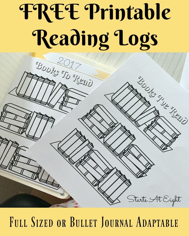 Resource image in reading journal printable