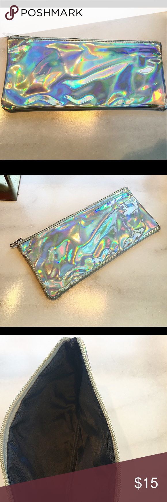 Large Holographic Cosmetic Bag 🦄 (With images) Cosmetic