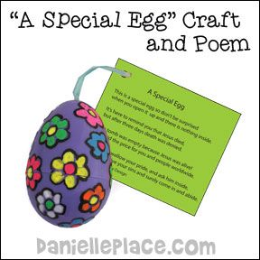 Special Easter Egg Bible Craft For Children From Www