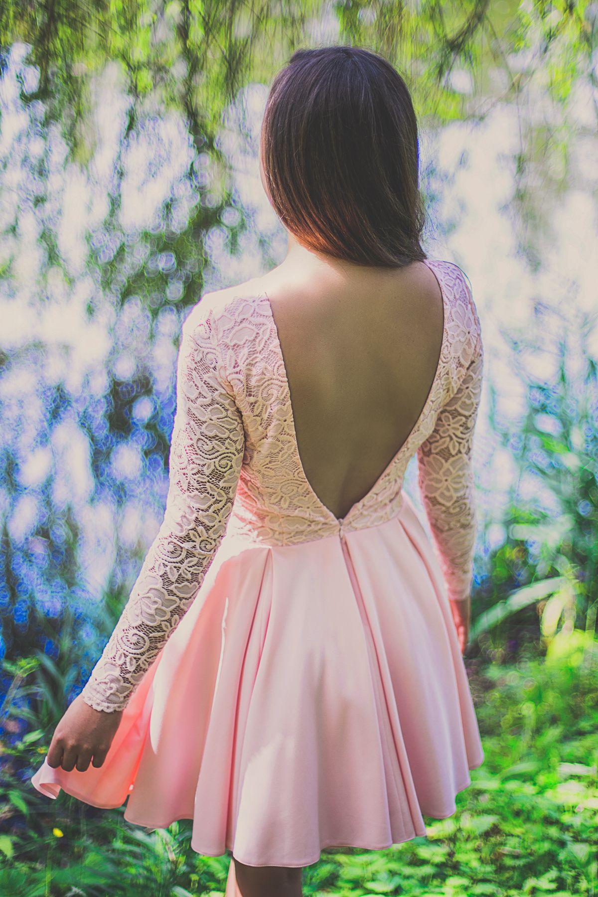 Sukienka Na Wesele Z Odkrytymi Plecami Dresses Prom Dresses Fashion