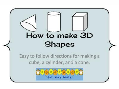 How to Make 3D Shapes from Notveryfancy on TeachersNotebook.com - (4 ...