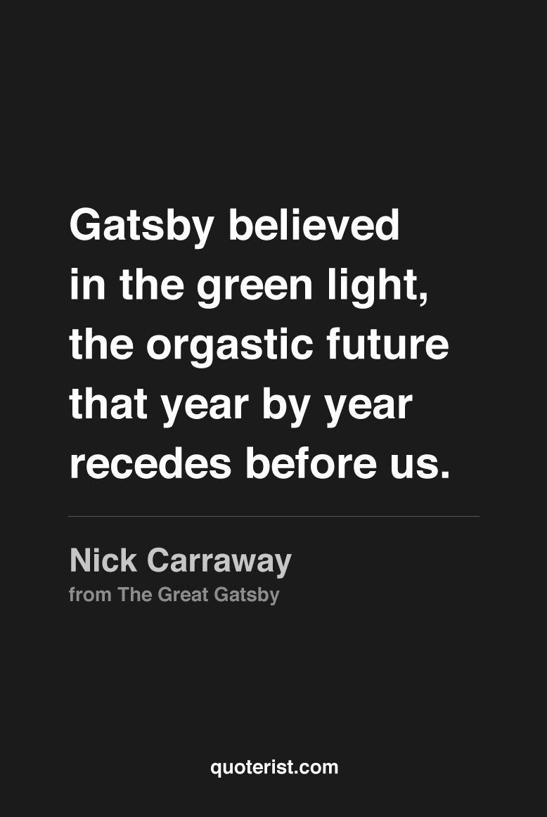 Great Gatsby Quotes So We Beat On
