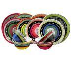 Gibson Almira 12-Piece Assorted Colors Dinnerware Set 98599958M - The Home Depot
