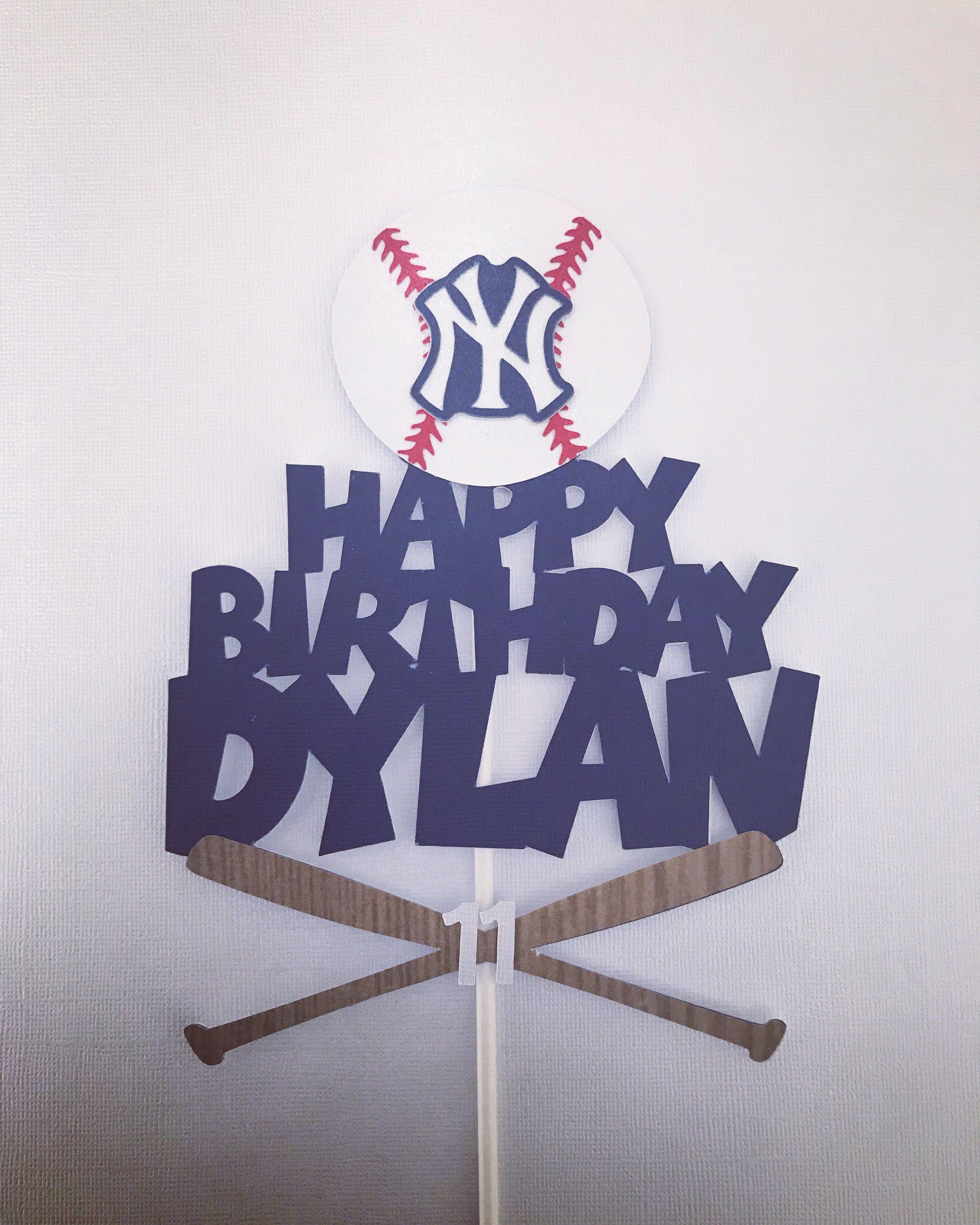 Yankees Baseball New York Yankees Ny Yankees Yankees Birthday Yankees Cake Topper Baseball Baseball Birthday Party Yankees Birthday Yankees Birthday Party