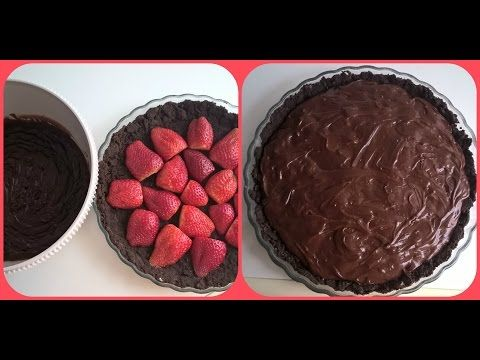 Tarte de Oreo, Morangos e Chocolate