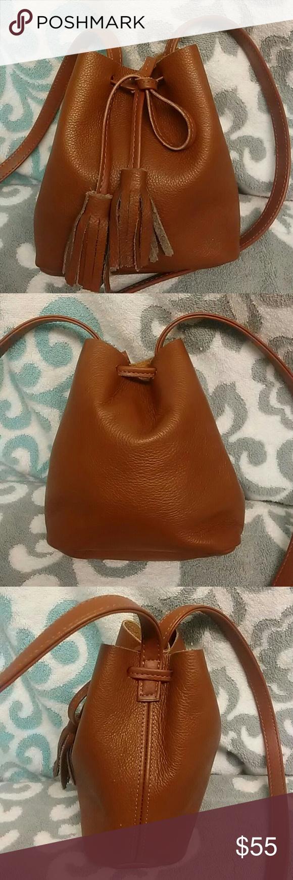 Shaffer Los Angeles Leather Bucket Bag Rachael Zoe