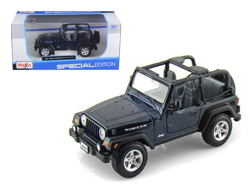Jeep Wranger Rubicon Blue 1 27 Diecast Model Car By Maisto Jeep Wranger Car Model Jeep Wrangler Rubicon